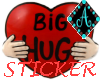 {Ama Hug Heart Sticker