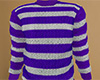 Purple Striped Sweater M
