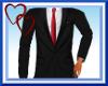 W| Black Suit-Red Tie