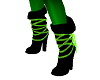 Toxic Green Boots
