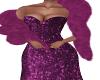 Frina-Magenta Gown/Boa