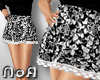 *NoA*Skirt Flower Black2