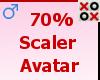 70% Scaler Avatar - M