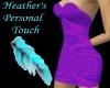 ~h~purpleblue mini dress