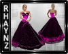 Pink and Black Gown