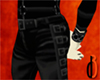 d3 Buckled Leather Pants