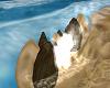 rocks w ocean mist