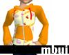 orange kawaii hoody