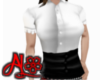 B&W Belt Schoolgirl Top