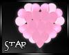 ::S:: Pink Heart Balloon