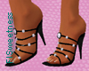 FLS Beaded Sandals -Blac