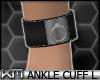 +KM+ PVC AnkleCuff L Blk