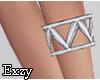 Pyramid Silver Bracelet
