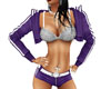 ~S~ Purple Sports Shorts