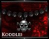 !K! Skull Beaded Chain M