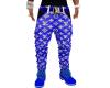 LV Blue Drip Jeans