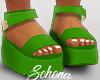 ṩ Platform Sandals Grn