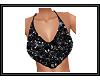 {G} Black Glitter Top