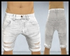 Ripped Male Wht Shorts