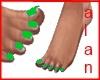 TippyToe Feet-Green