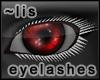 Lashes: grey