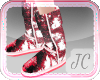 {JC} Shiny UGGs Red