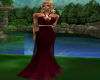 maroon gown dress