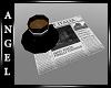 A~Italian Cafe-Newspaper