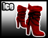 [ICE]Red Ladies Boots