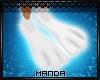 .M. White Bunny Feet