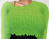 Ripped Knit Green