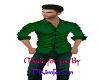 dark green shirt