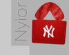 NY Fur Bag Red, B