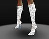 glitter boots white
