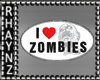 I <3 Zombies HP Sticker