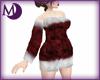 BBW Red Fur Dress