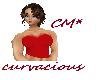 CM* Red corset top