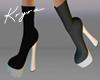 ❣K White & Black Boots
