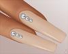 $ Sand Diamond Nails