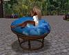 Blue Floral Kiss Chair