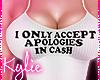 $ Apologies In Cash Top