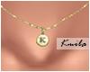 |K Tiny Necklace K