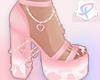 =P= ❤Moo Heels pink