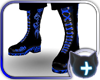 Black Blue Neon Boot