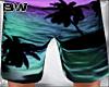 Neon Sunset Beach Shorts
