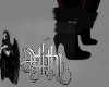chic winter boots black