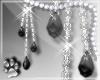 Onyx Earrings -Silver