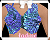 Kids butterfly crop blue
