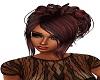 coiffure noir et rouge