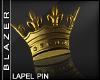 B| Gold Crown Lapel Pin